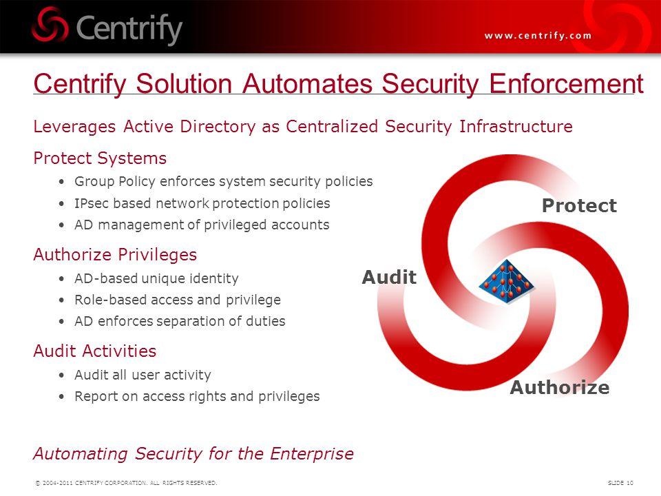 Centrify Solution Automates Security Enforcement