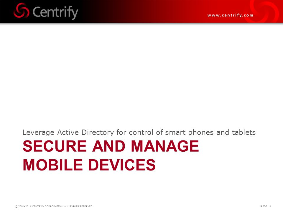 SECURE AND MANAGE MOBILE DEVICEs