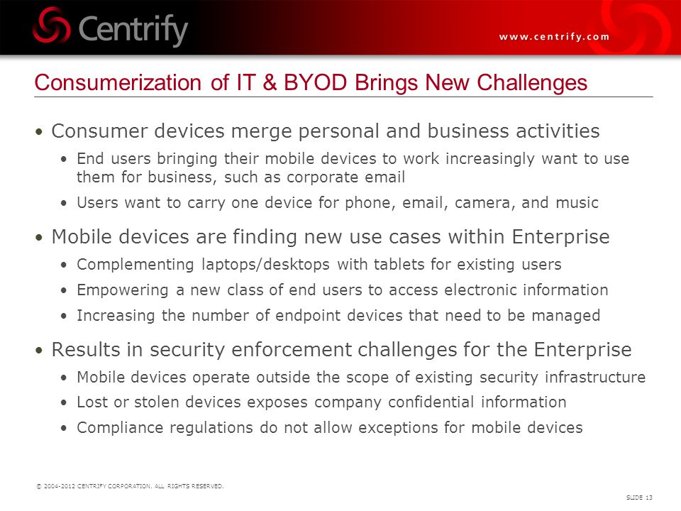 Consumerization of IT & BYOD Brings New Challenges