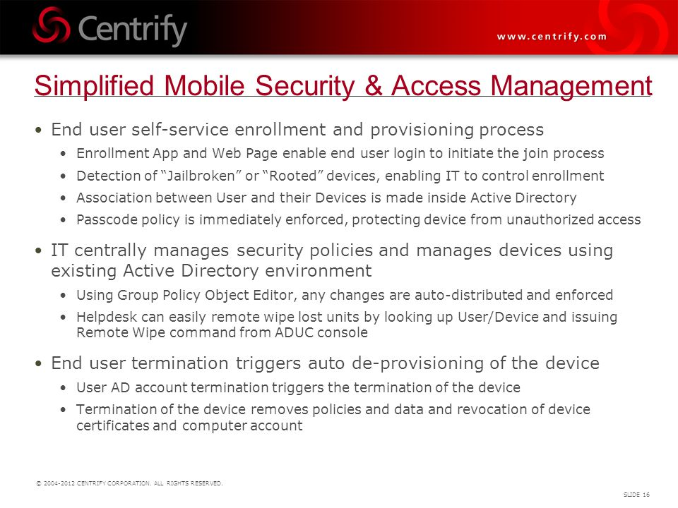 Simplified Mobile Security & Access Management