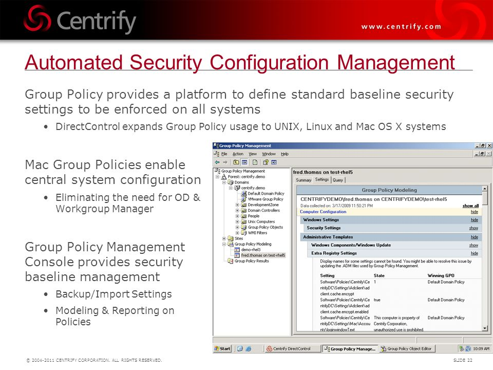 Automated Security Configuration Management