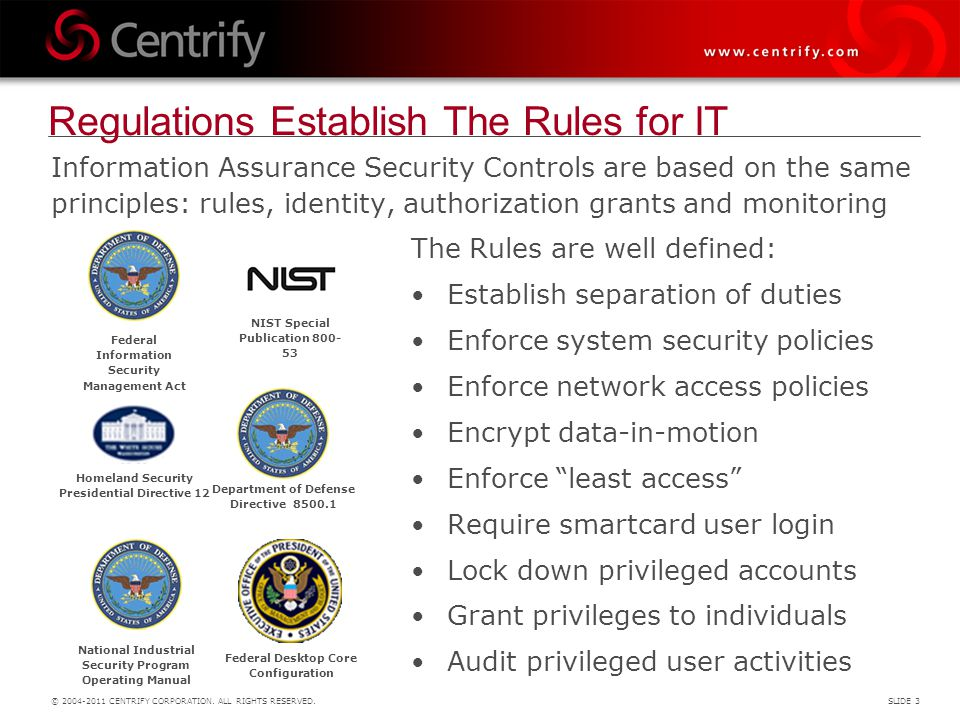 Regulations Establish The Rules for IT