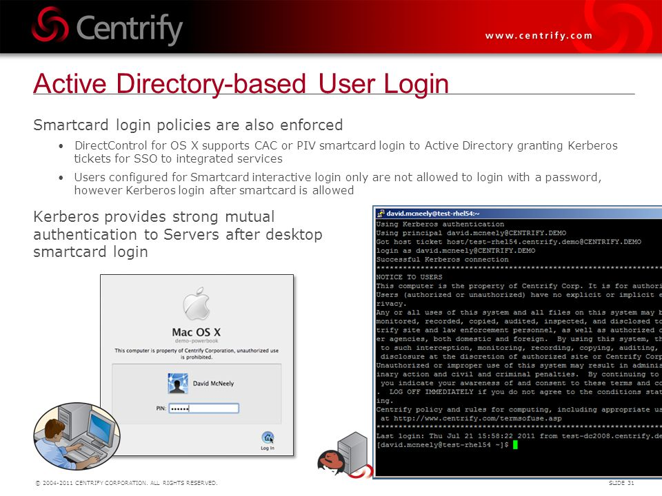 Active Directory-based User Login