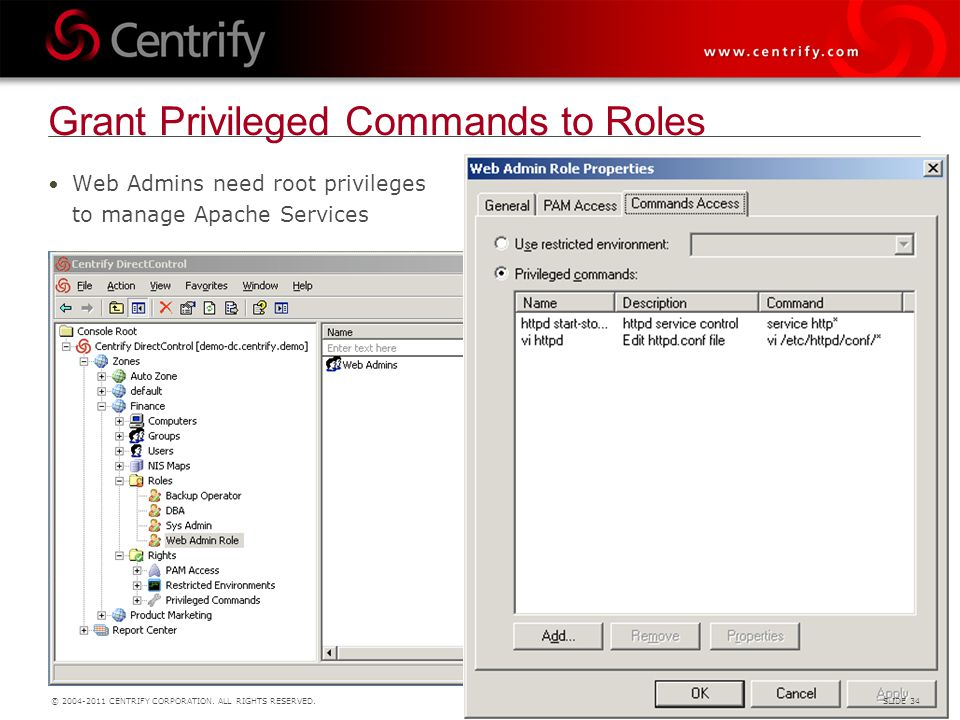 Grant Privileged Commands to Roles