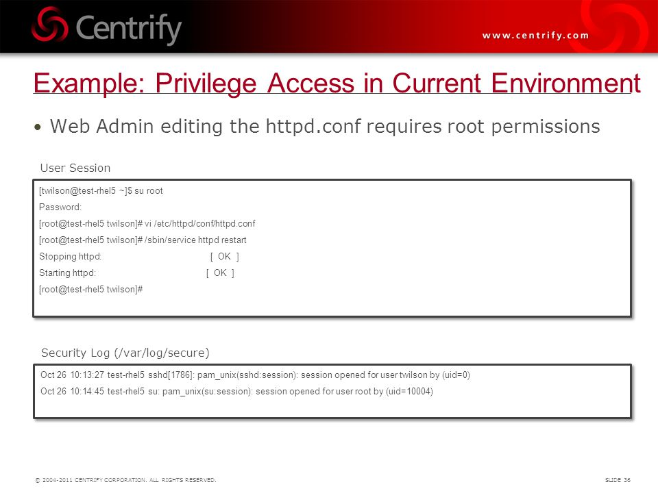 Example: Privilege Access in Current Environment