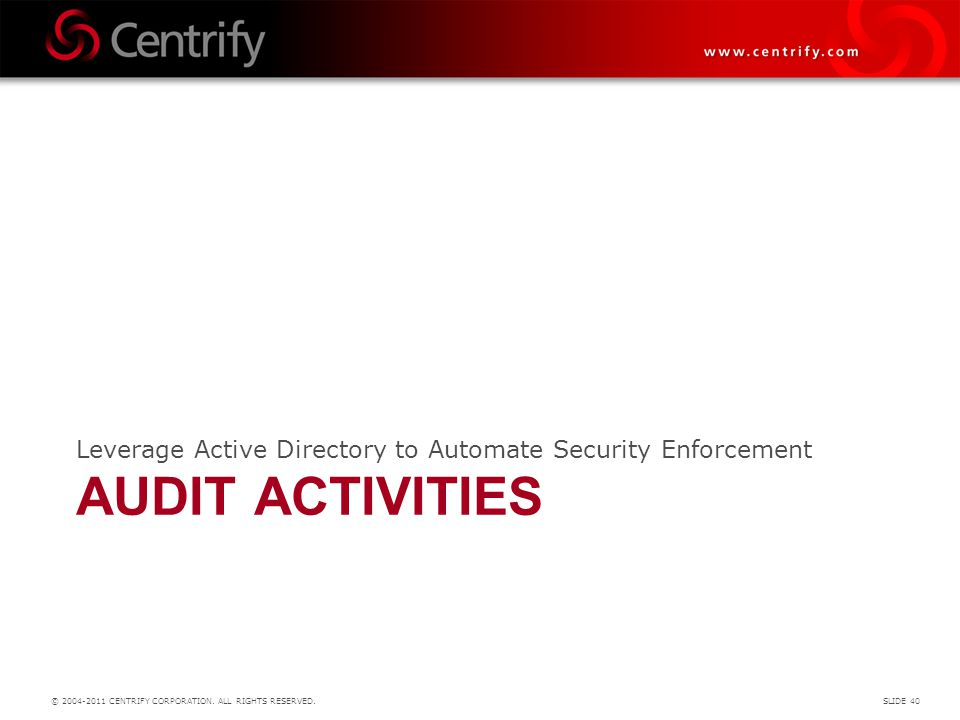 Leverage Active Directory to Automate Security Enforcement