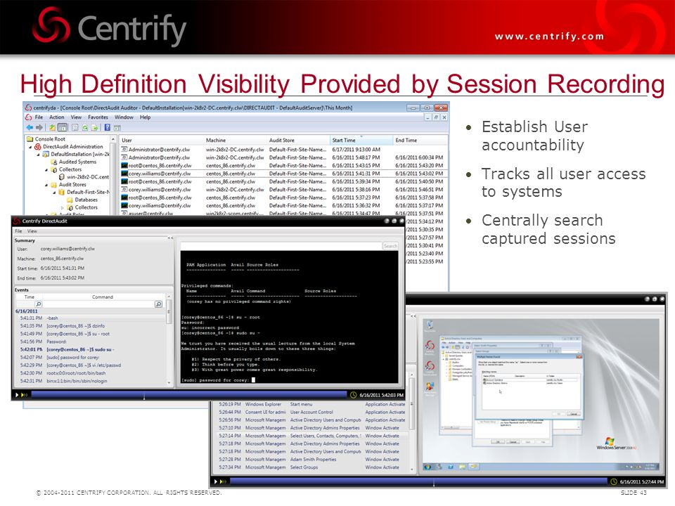 High Definition Visibility Provided by Session Recording