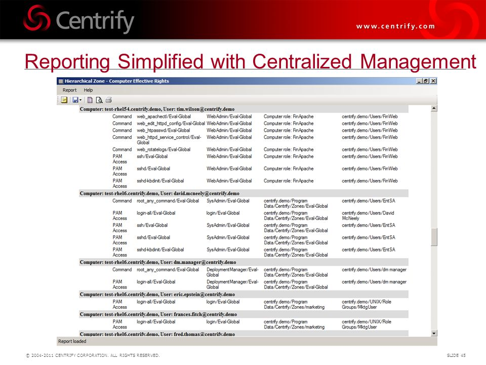 Reporting Simplified with Centralized Management