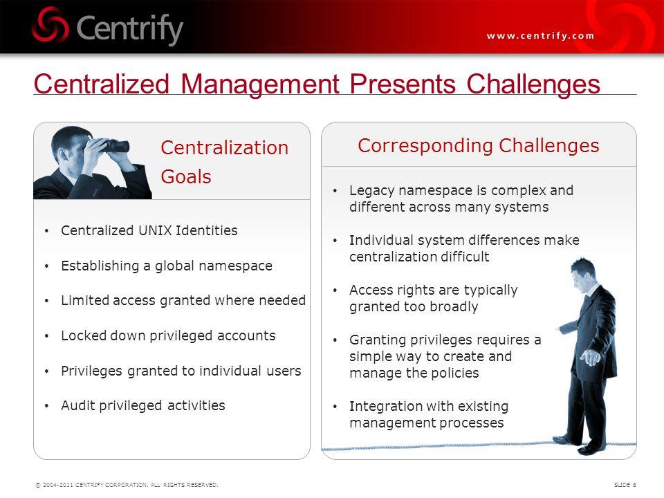 Centralized Management Presents Challenges