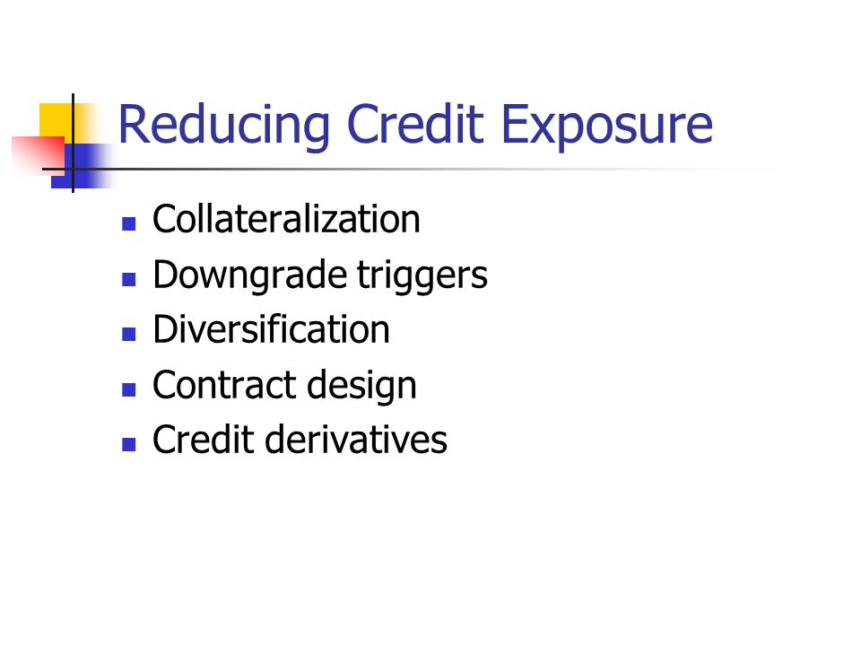 Reducing Credit Exposure