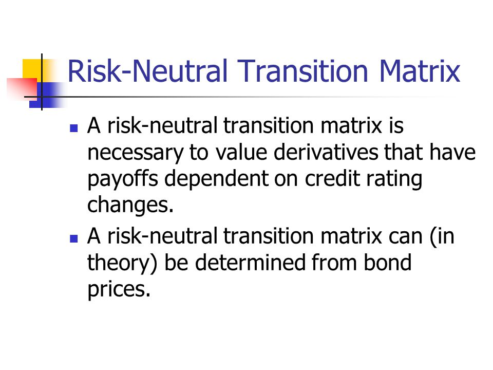 Risk-Neutral Transition Matrix