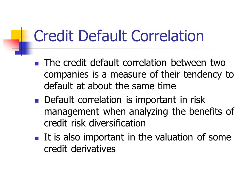 Credit Default Correlation