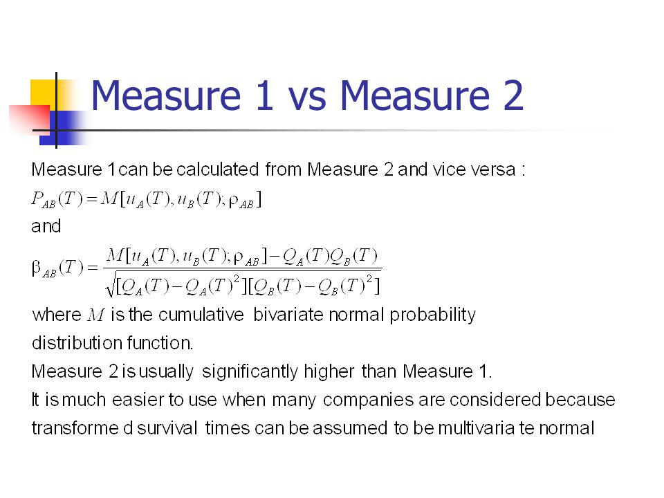 Measure 1 vs Measure 2