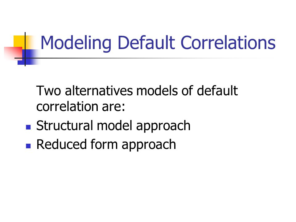 Modeling Default Correlations