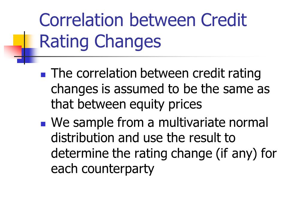 Correlation between Credit Rating Changes