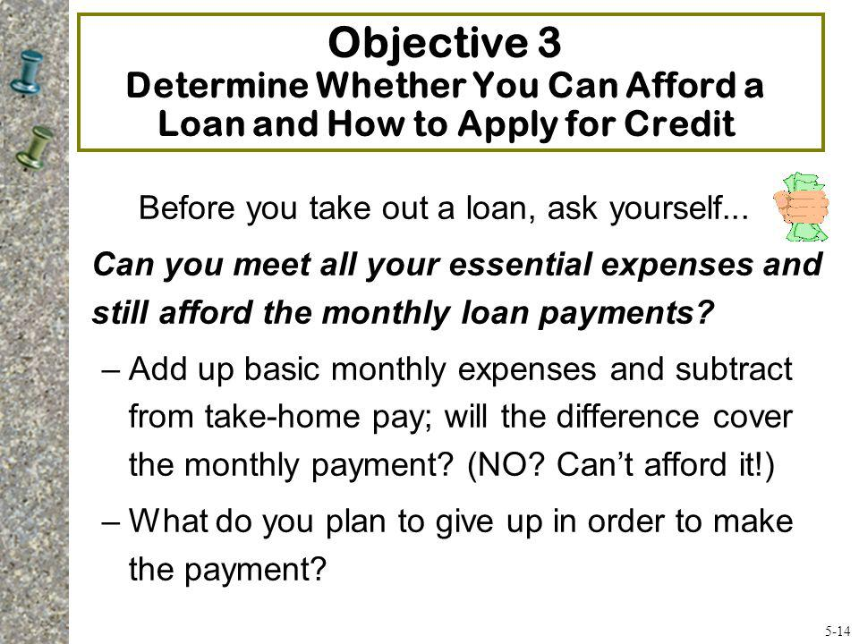 Before you take out a loan, ask yourself...
