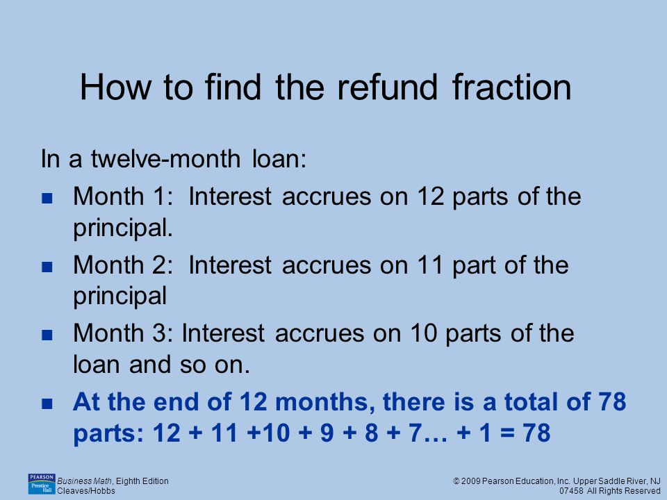 How to find the refund fraction