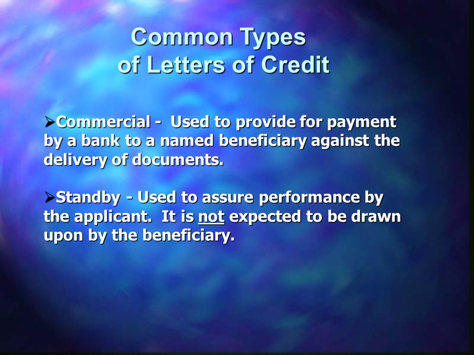 Common Types of Letters of Credit