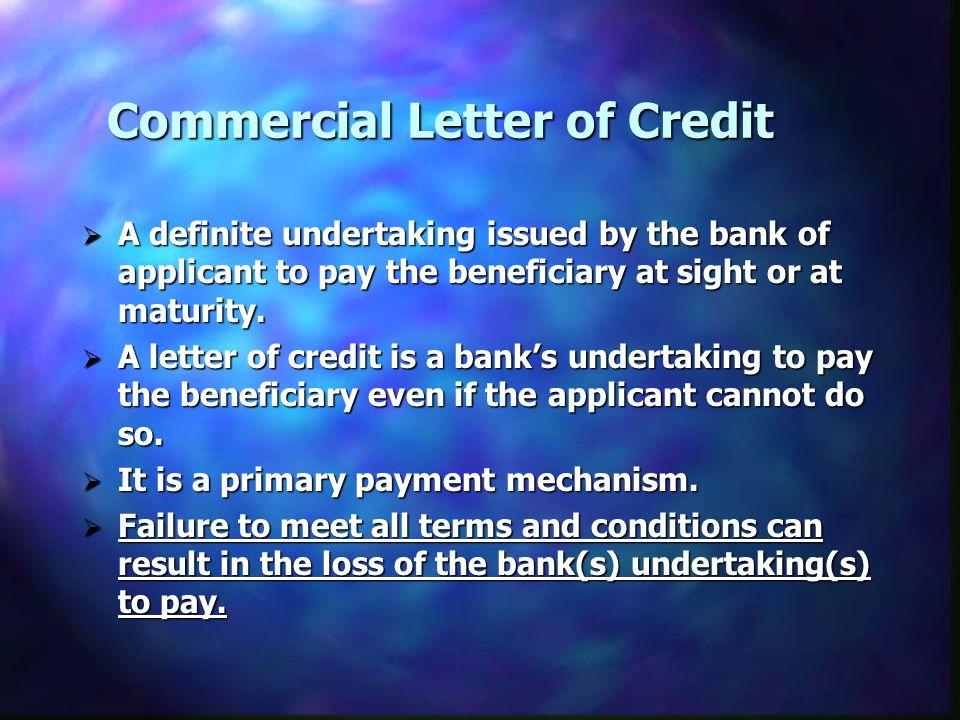 Commercial Letter of Credit