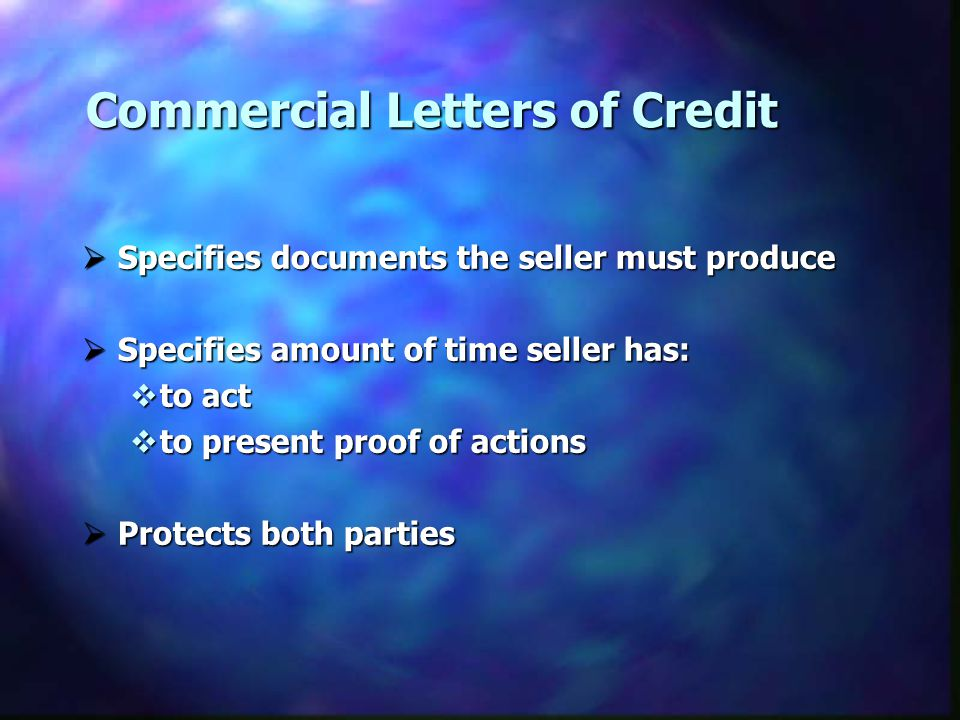 Commercial Letters of Credit