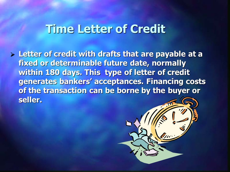 Time Letter of Credit