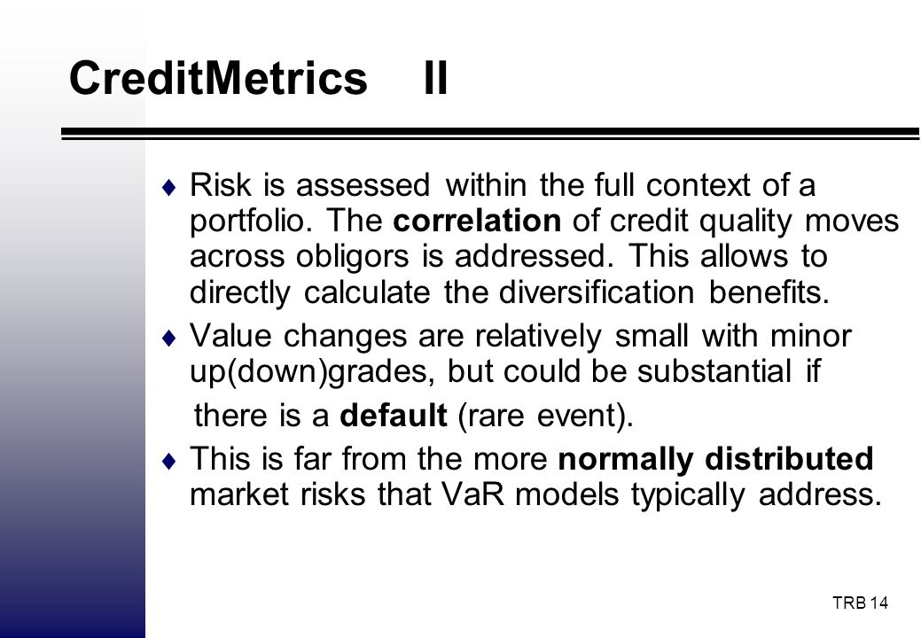 CreditMetrics II