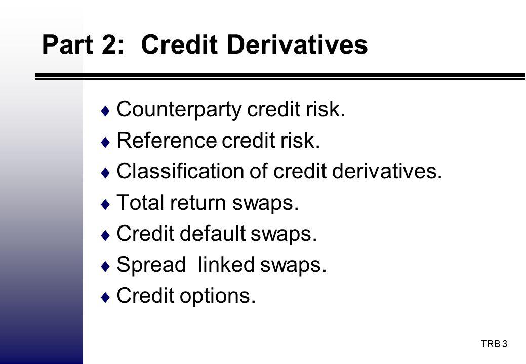 Part 2: Credit Derivatives