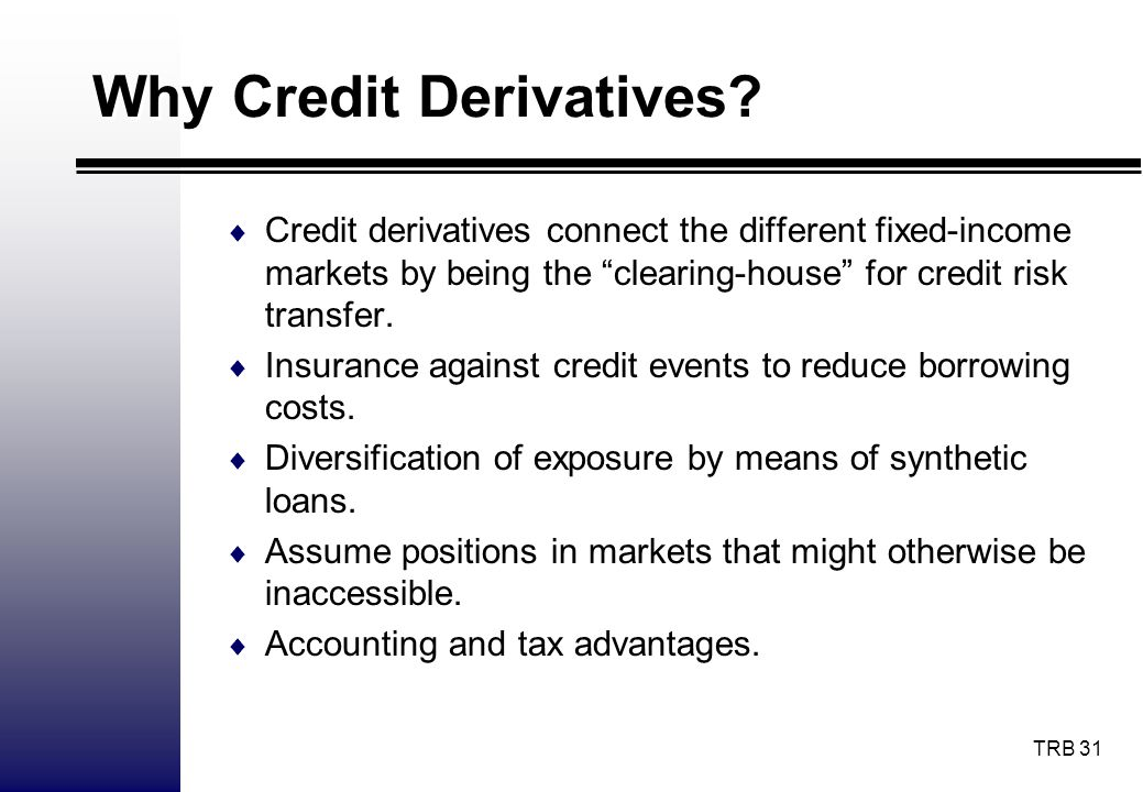 Why Credit Derivatives