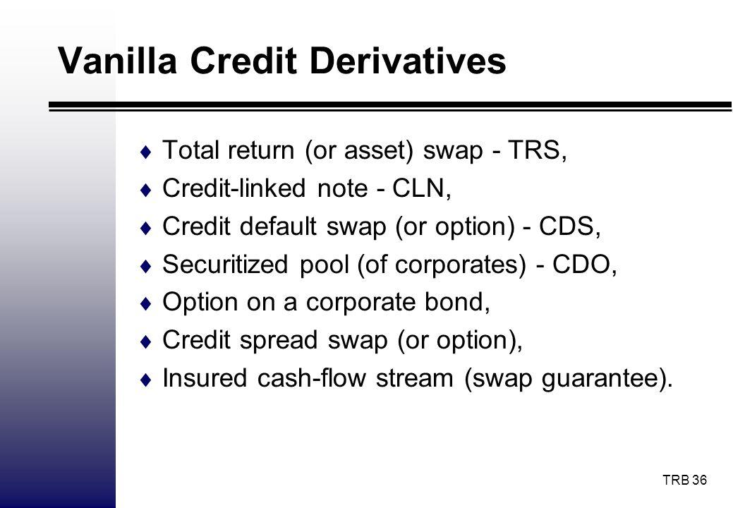 Vanilla Credit Derivatives