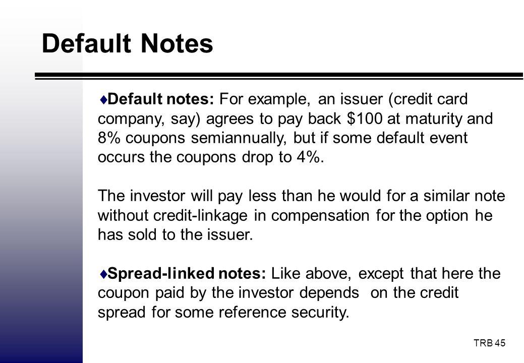 Default Notes