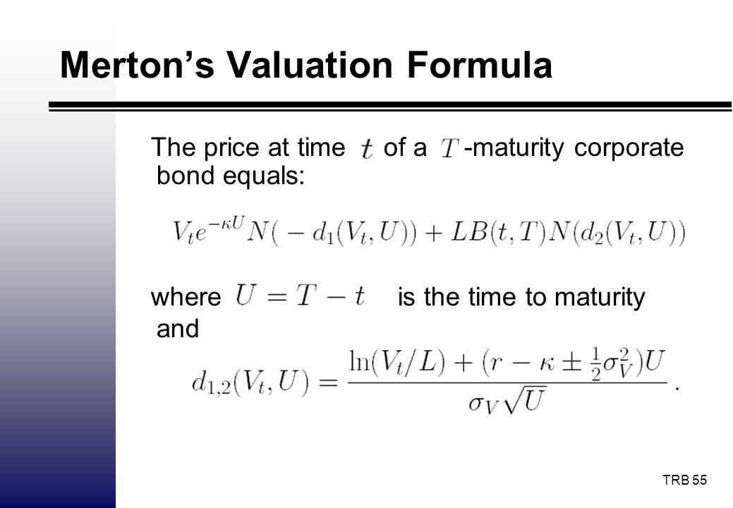 Merton's Valuation Formula