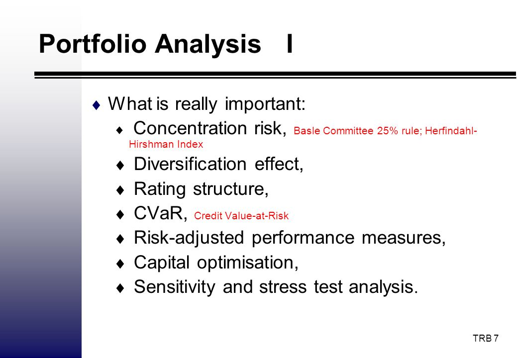 Portfolio Analysis I What is really important: Diversification effect,