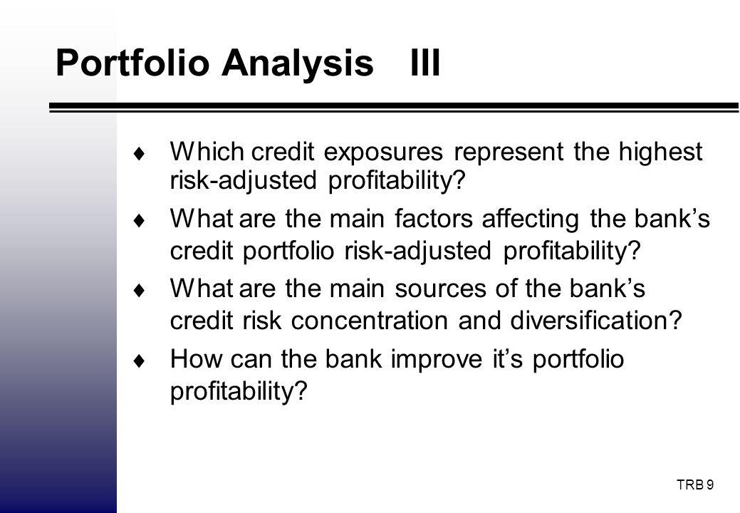 Portfolio Analysis III