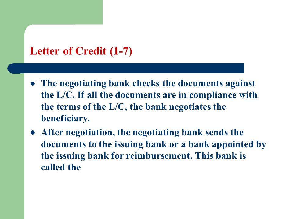 Letter of Credit (1-7)