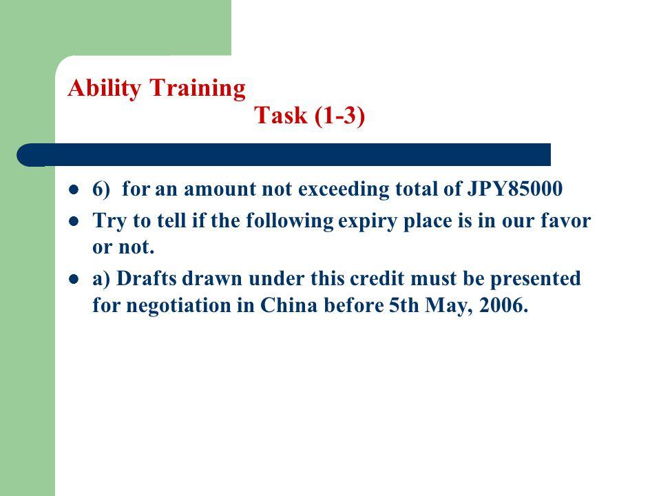 Ability Training Task (1-3)