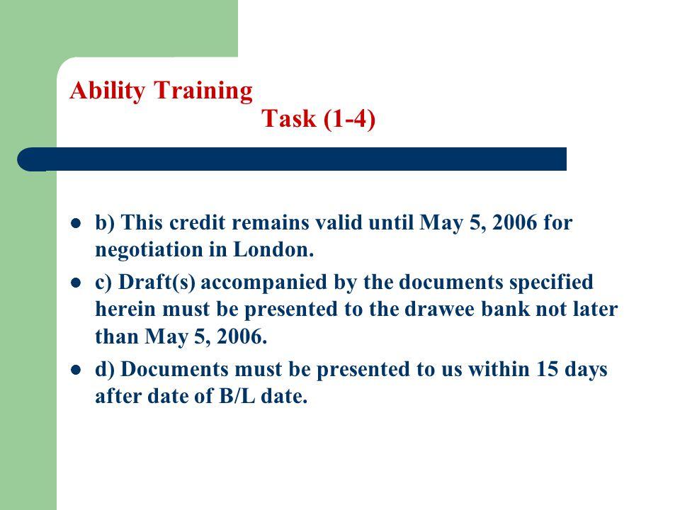 Ability Training Task (1-4)