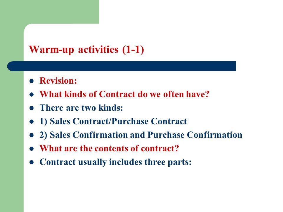 Warm-up activities (1-1)