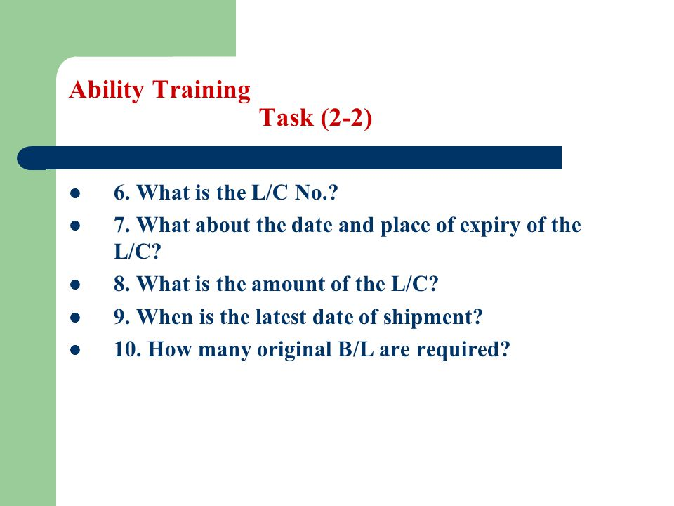 Ability Training Task (2-2)
