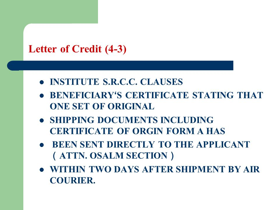 Letter of credit learning objectives the students are required to 51 letter yadclub Image collections
