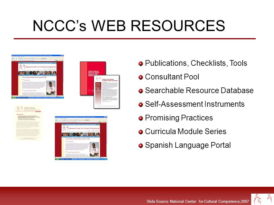 NCCC's WEB RESOURCES Publications, Checklists, Tools Consultant Pool