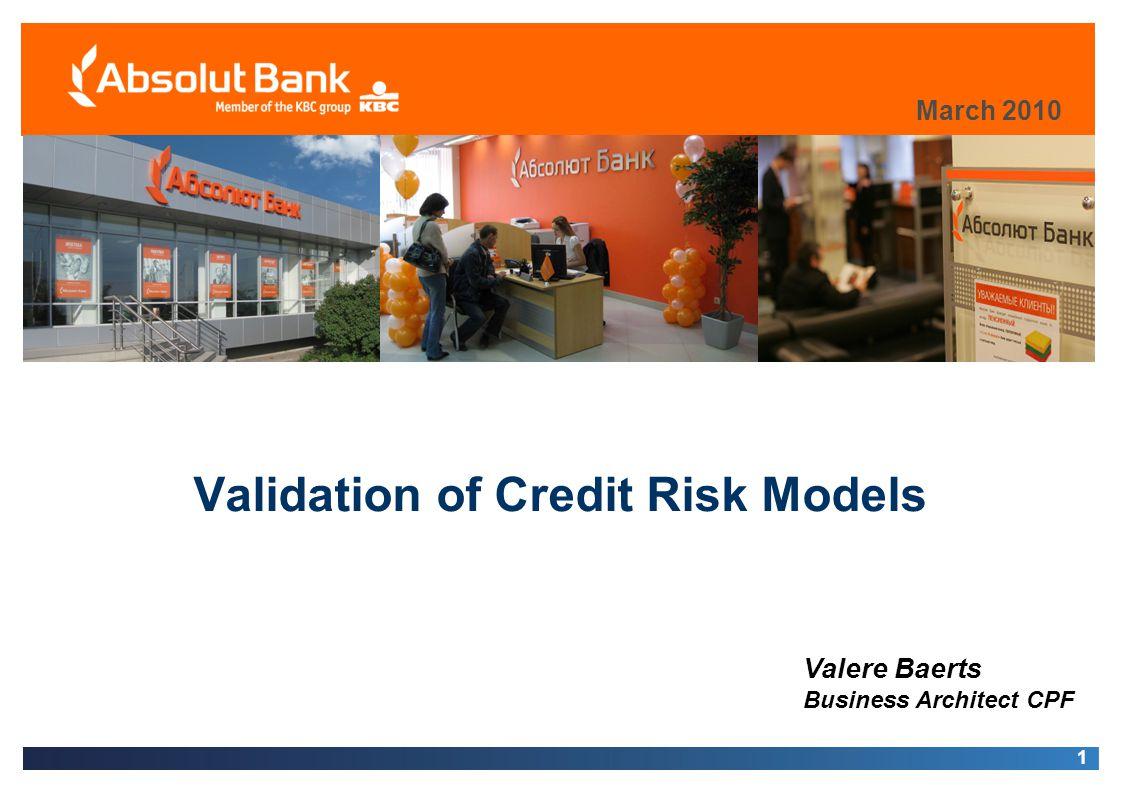 Validation of Credit Risk Models