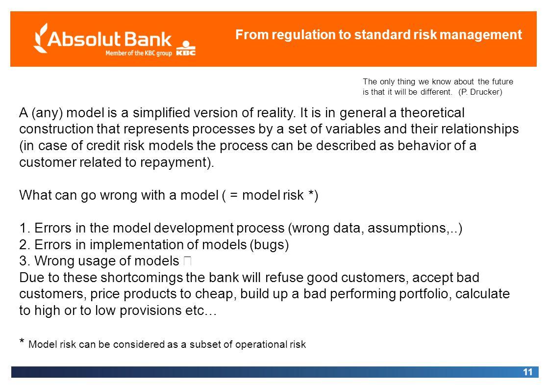 From regulation to standard risk management