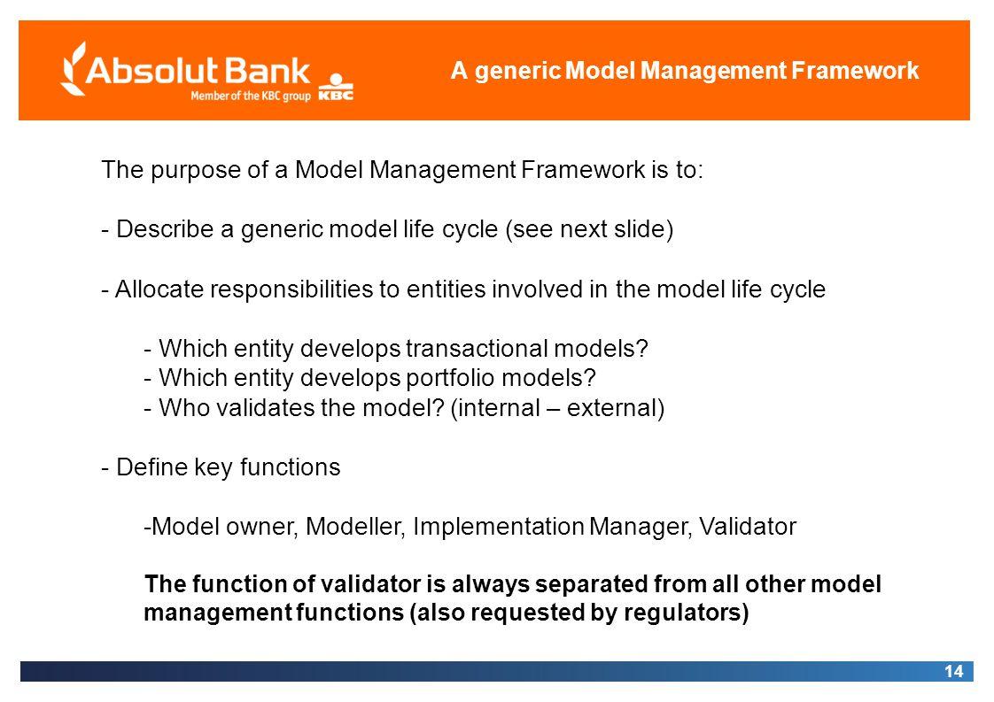 A generic Model Management Framework