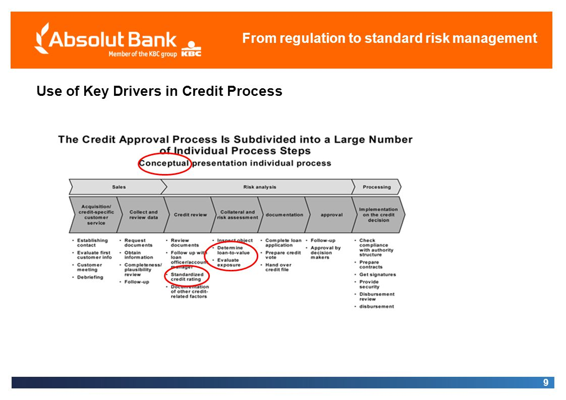 Use of Key Drivers in Credit Process