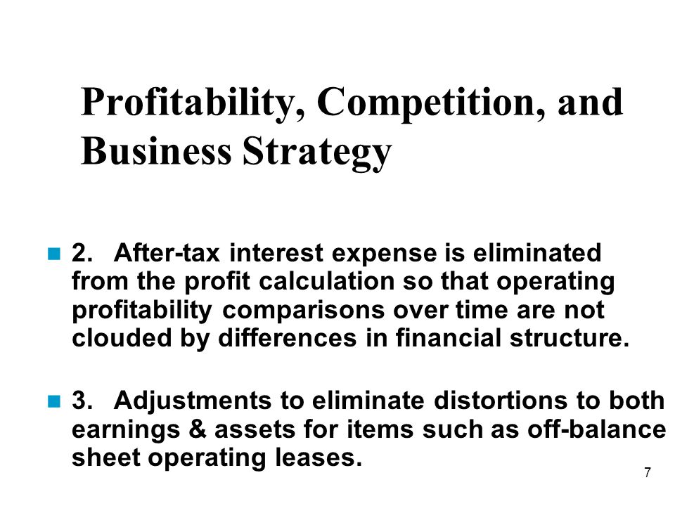 Profitability, Competition, and Business Strategy