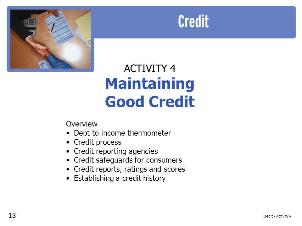 Maintaining Good Credit