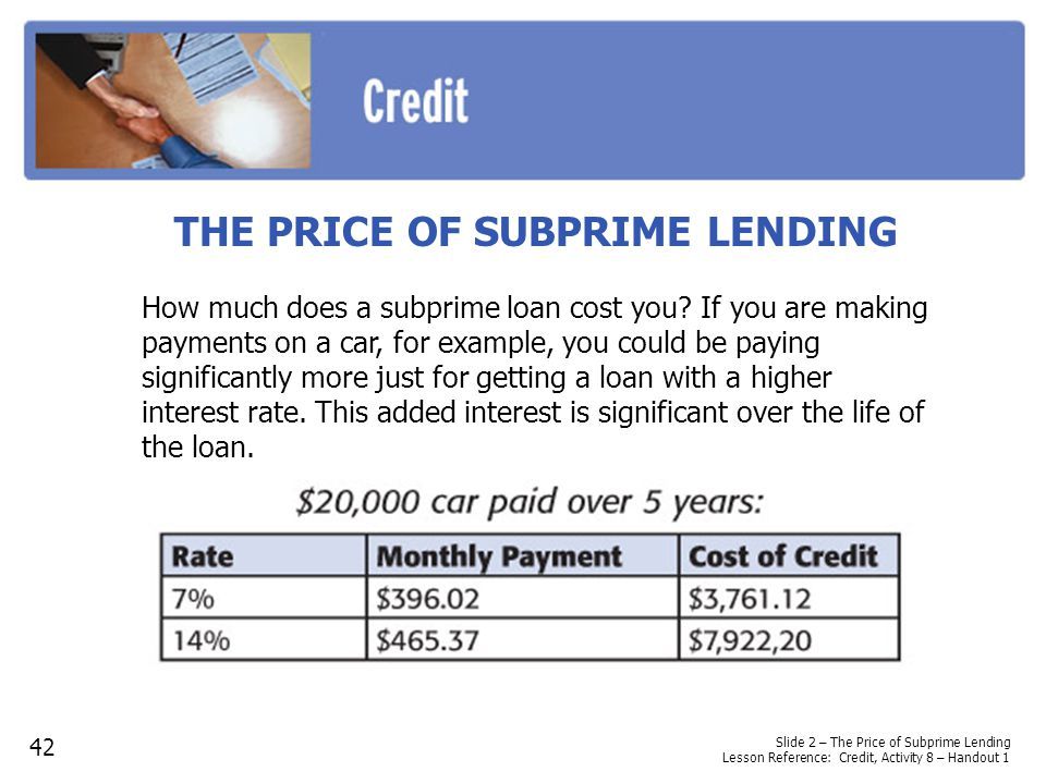 THE PRICE OF SUBPRIME LENDING