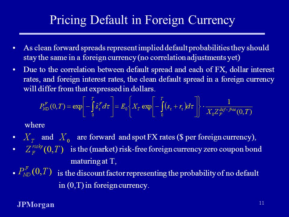 Pricing Default in Foreign Currency