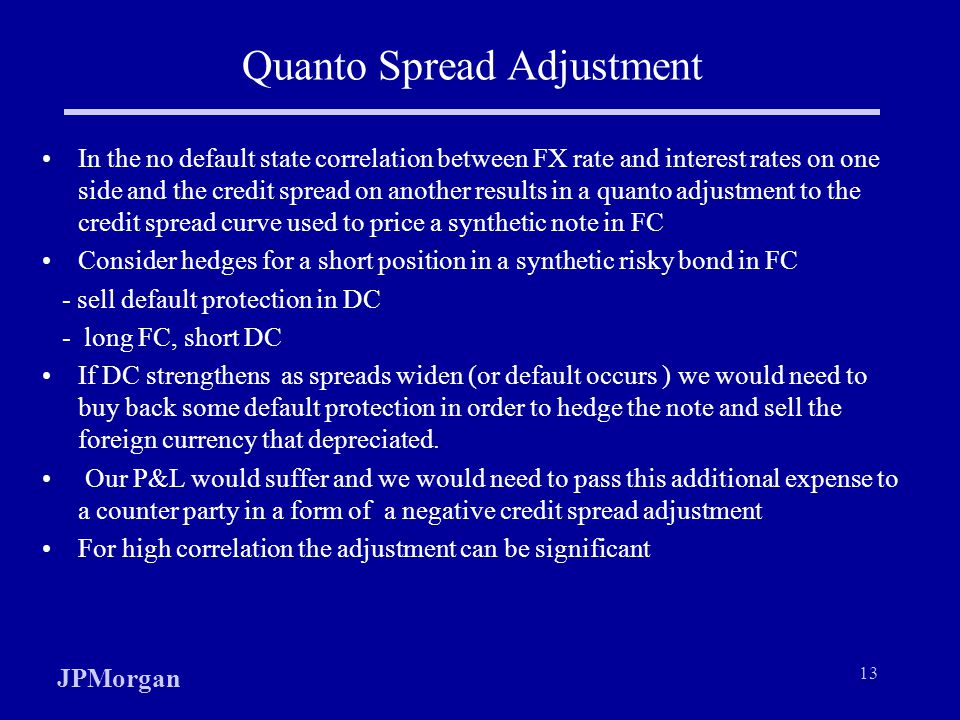 Quanto Spread Adjustment