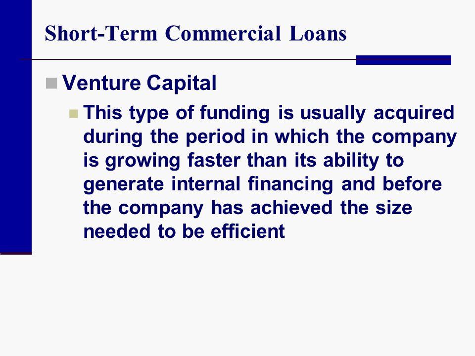 Short-Term Commercial Loans